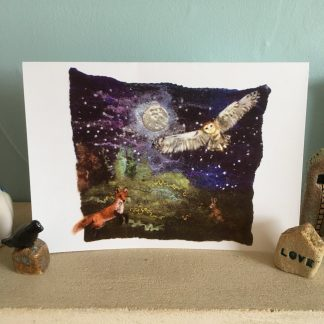 midnight visitors greeting card