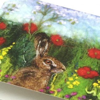 Hiding Hare Greeting Card