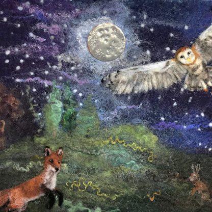 midnight visitors giclee art print