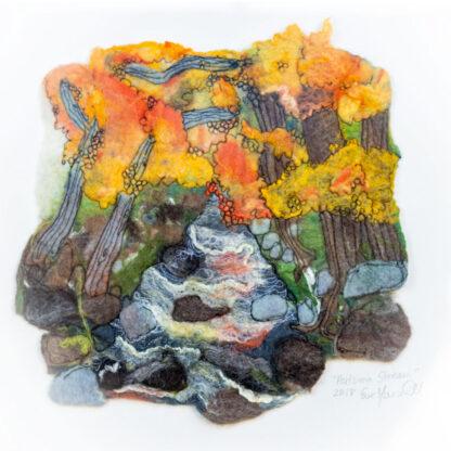 Autumn Stream Original Framed Artwork for Collection