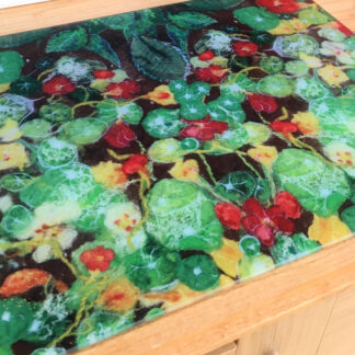 Nasturtiums Glass Worktop Saver