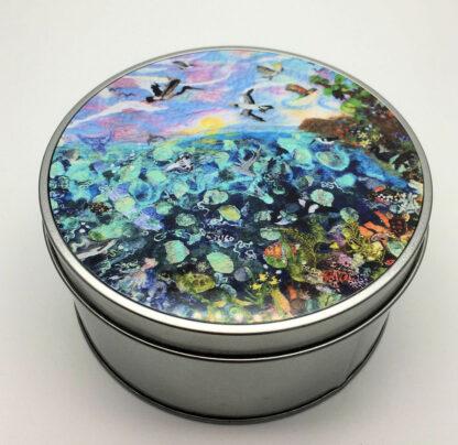 Great Barrier Reef Round Metal Tin