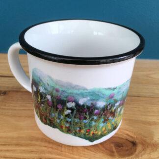 Summer Hares Ceramic Camping Mug