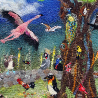 The Odd Bird Tree II Original Artwork