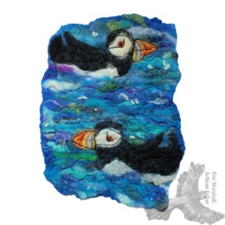 Aqua Puffins Original Artwork
