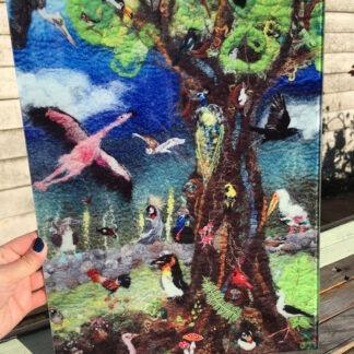 The Odd Bird Tree II Glass Worktop Saver