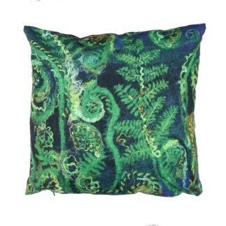 Ferns Vegan Suede Cushion