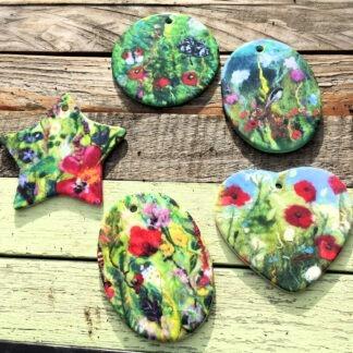 Floral Ceramic Pendant