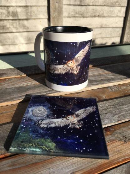 Owl Moon Mug & Coaster Gift Set