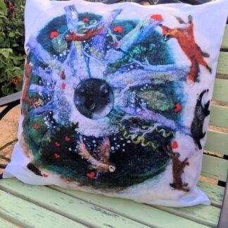 Share the Love vegan suede cushion