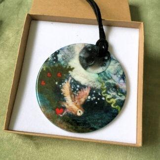 Share the Love Ceramic pendant
