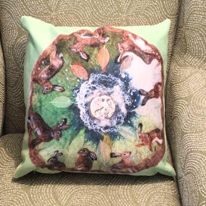 Hare Calendar Vegan Suede Cushion
