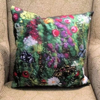 Blooming Butterflies Vegan Suede Cushion