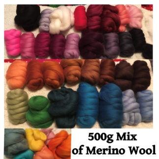 500g of Merino Wool Roving Set 1
