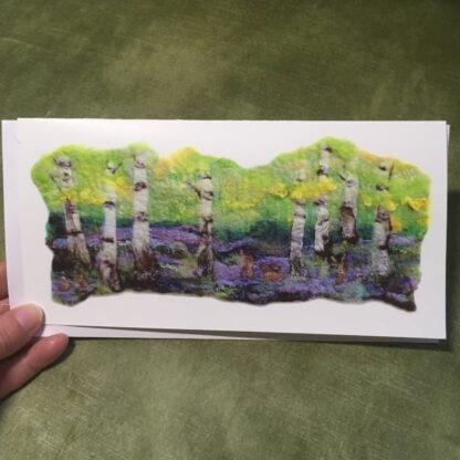 Bluebells in Birchwood Greeting Card