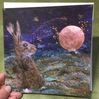 Harvest Moon Hare Greeting Card