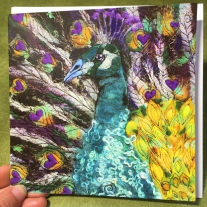 King of Hearts Peacock Greeting Card