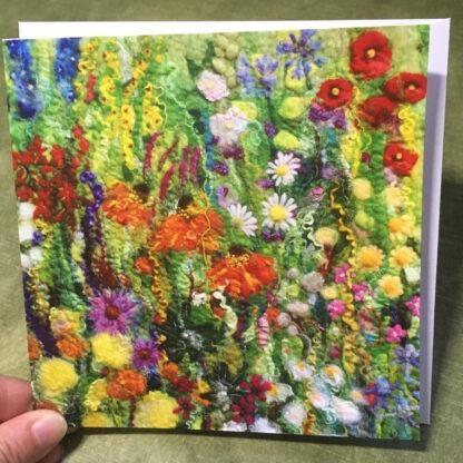 Flower Outbreak Greeting Card