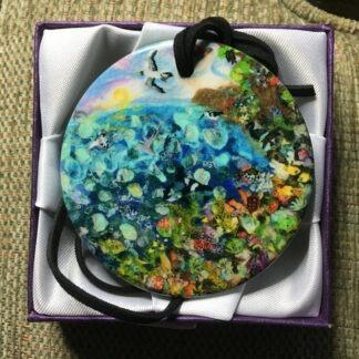 Ocean Inspired Ceramic Pendant