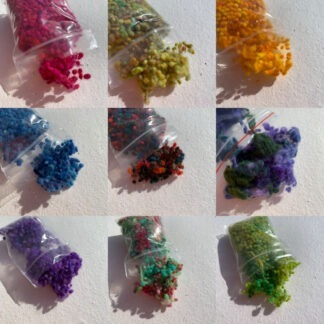 Colourful Wool Nepps 4 gram bag