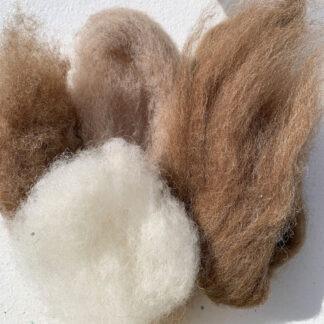 Wool Bundle: Brown Hare