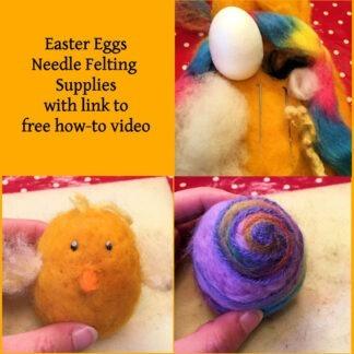 Easter Egg Felting Supplies