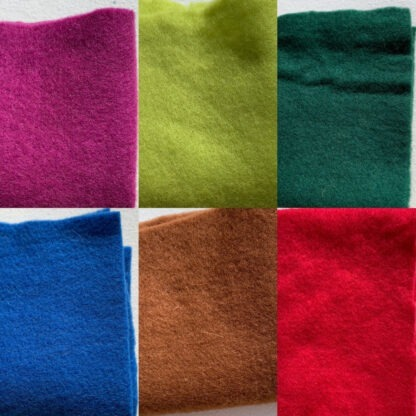 Colourful Merino Pre-Felt A4 piece