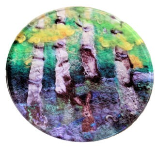 BLuebell wood Glass Coaster
