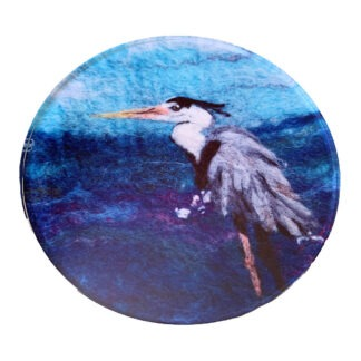 Heron Round Glass Coaster
