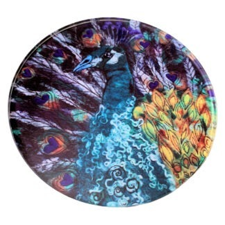king of hearts peacock coaster