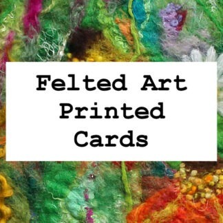 Felted Art Printed Cards