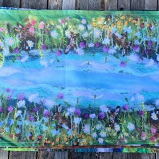 Summer Hares Organic Cotton Tea Towel