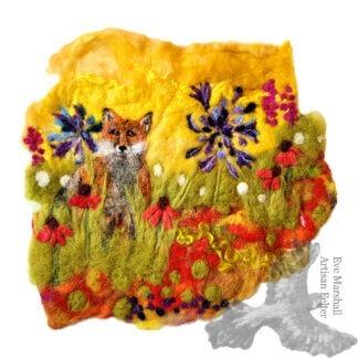 Fox in Summer Garden Original Artwork