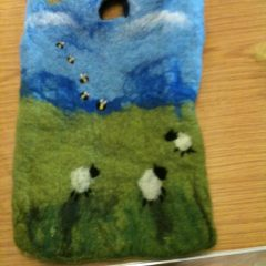 Wet felted bag class