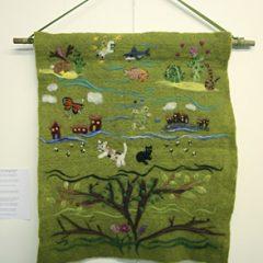 Tree Hugger song by Kimya Dawson made into felt art by Eve Marshall